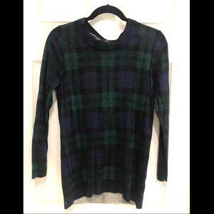 Plaid J Crew sweater
